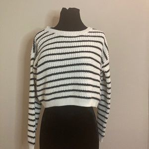 Forever 21 Black and White Stripe Knit Sweater
